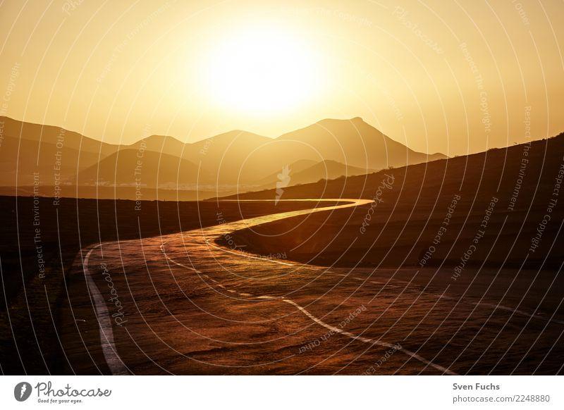 Straße ins Licht Sinnesorgane Meditation Umwelt Natur Landschaft Urelemente Erde Sonnenaufgang Sonnenuntergang Sonnenlicht Vulkan Wege & Pfade Sehnsucht