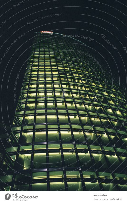 Building Hochhaus Nacht Licht Gebäude Architektur Berlin Hauptstadt