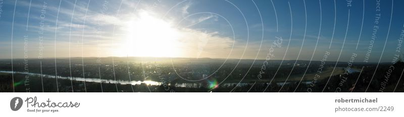panorama dresden Himmel weiß Sonne blau Stadt Wolken dunkel Berge u. Gebirge Stimmung Europa Brücke Fluss Niveau Aussicht Dresden Dorf