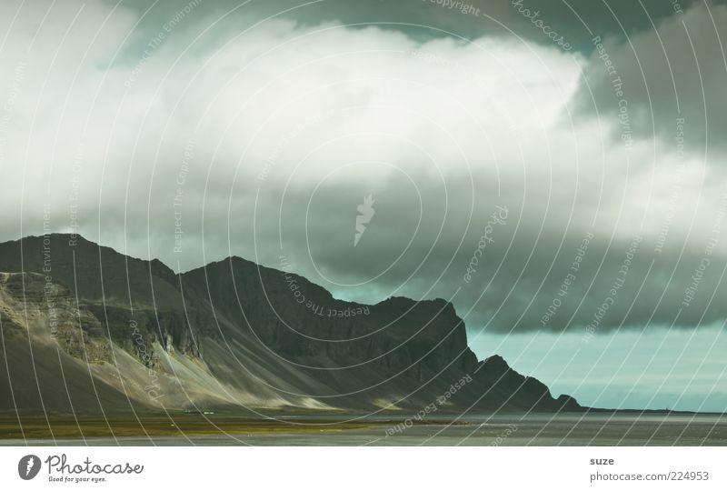 HochTief Ferne Freiheit Umwelt Natur Landschaft Pflanze Urelemente Himmel Wolken Gewitterwolken Horizont Klima Klimawandel Wetter schlechtes Wetter Unwetter