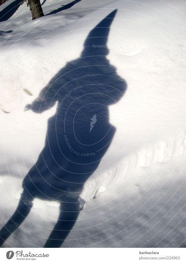 Baba Jaga Frau Natur Winter Erwachsene Schnee Bewegung Tanzen Fröhlichkeit Kultur fantastisch Mütze skurril Baumstamm Surrealismus Mantel Märchen