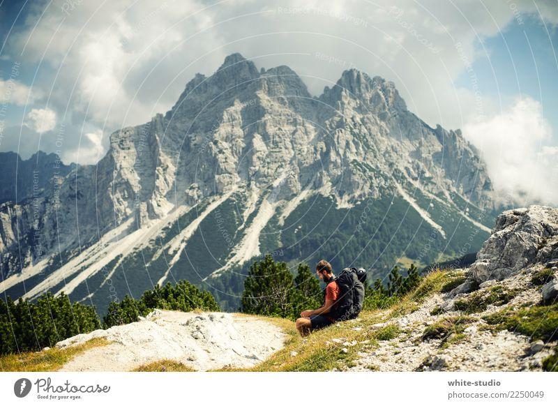 Chillen mit Dolomit Ferien & Urlaub & Reisen Jugendliche Mann Erholung ruhig Ferne Berge u. Gebirge 18-30 Jahre Erwachsene Leben Gesundheit Tourismus Freiheit