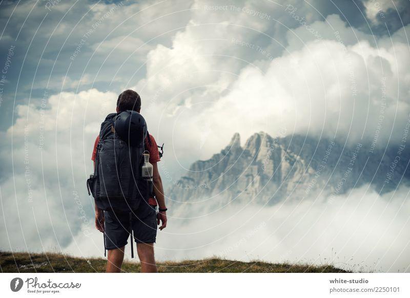 Auf nach Mordor! sportlich Fitness Ferien & Urlaub & Reisen Tourismus Abenteuer Sommer Berge u. Gebirge wandern Sport-Training maskulin Mann Erwachsene 1 Mensch