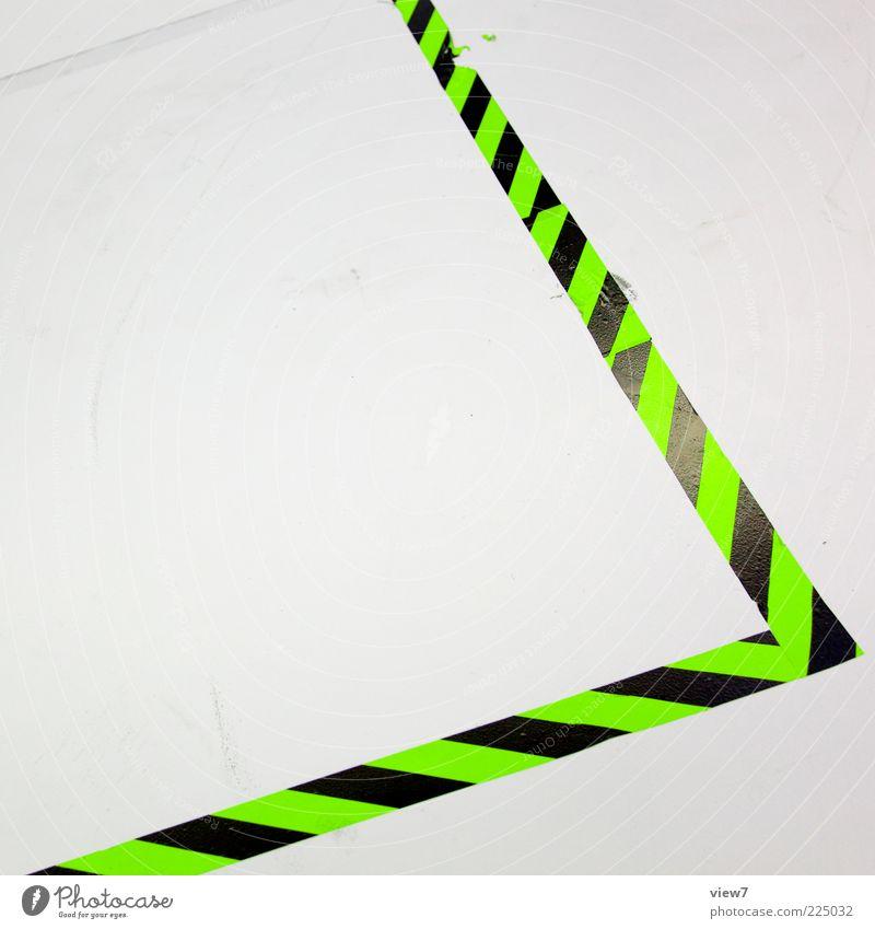 DISCO Verkehrszeichen Verkehrsschild Kunststoff Zeichen Linie Streifen authentisch eckig einfach elegant exotisch modern neu positiv grün weiß Beginn ästhetisch