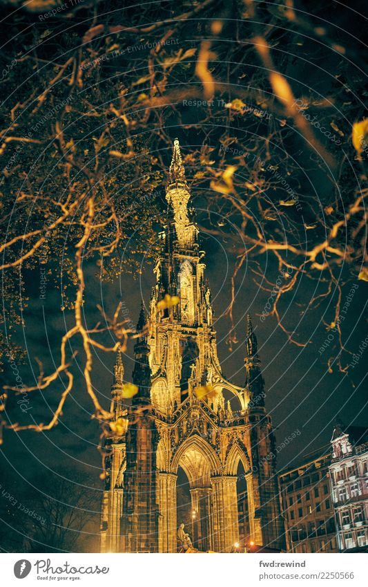Scott Monument Ferien & Urlaub & Reisen Stadt dunkel Architektur Tourismus Ausflug gold Ast historisch bedrohlich Macht Bauwerk geheimnisvoll Hauptstadt