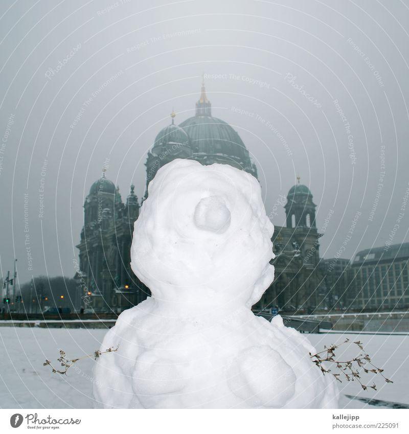 berlin fashion week weiß Winter Schnee Berlin Wetter lustig Eis Nebel Platz Tourismus Klima Kirche Frost historisch skurril Figur