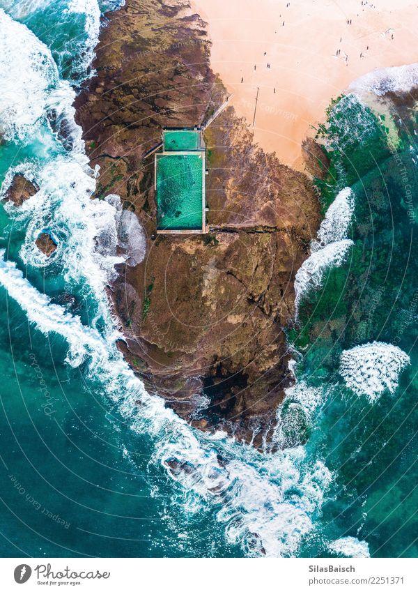 Rockpool umgeben vom Meer an einem sonnigen Tag Lifestyle Freude Wellness Sinnesorgane Erholung Ferien & Urlaub & Reisen Tourismus Ausflug Abenteuer Freiheit