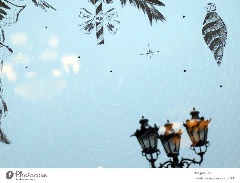 blau Weihnachten & Advent Freude Winter Fenster Feste & Feiern Stimmung Glas Dekoration & Verzierung ästhetisch Fröhlichkeit Warmherzigkeit Lebensfreude