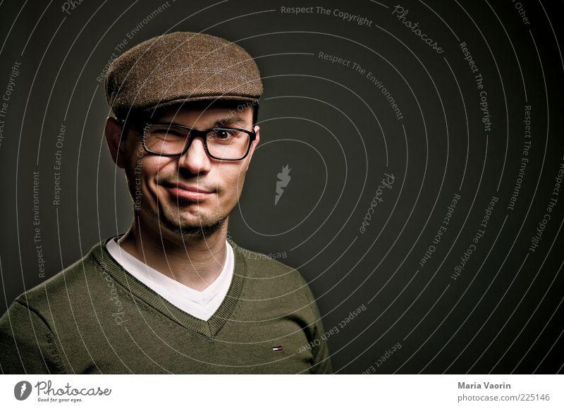 Mit dem zweiten.... Mensch Jugendliche Freude Stil Denken Erwachsene Mode maskulin frisch Fröhlichkeit natürlich Brille Mann Porträt Student