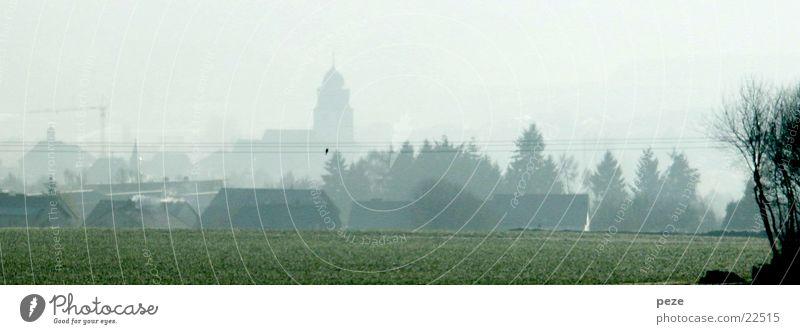 Nebel über Usingen Stadt Herbst Panorama (Aussicht) Taunus Morgen groß Panorama (Bildformat)