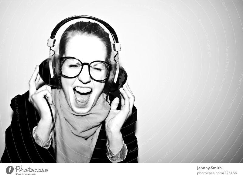 Ich heb' ab!!! Jugendliche schön Freude Leben Glück Musik Stimmung Tanzen Fröhlichkeit Lifestyle modern Brille authentisch außergewöhnlich Porträt Leidenschaft