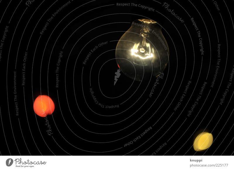 Erleuchtung Lampe Energiewirtschaft Technik & Technologie leuchten dunkel rund schwarz weiß Glühbirne Lampendetail Elektrizität Farbfoto Innenaufnahme