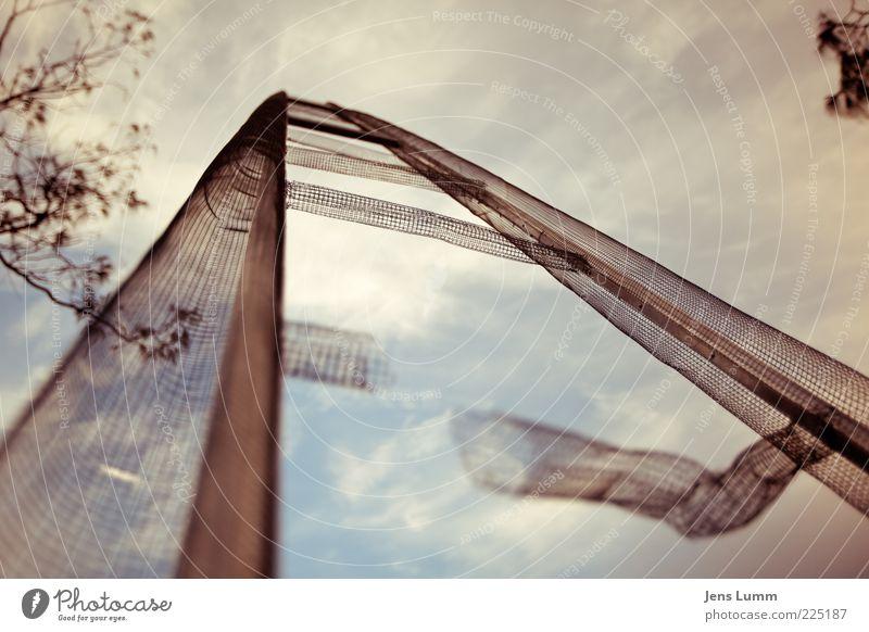Ladder Match Kunst Kunstwerk alt Leiter Himmel kaputt Leitersprosse Perspektive Weitwinkel Farbfoto Außenaufnahme Menschenleer Tag Schwache Tiefenschärfe