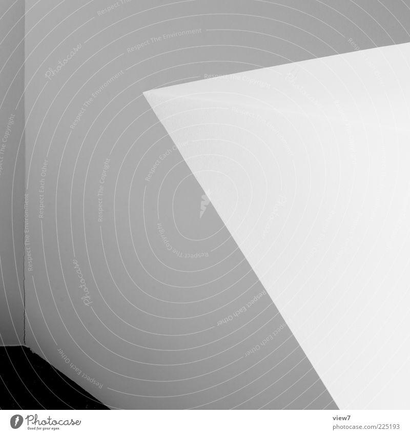 Winkel weiß Linie Raum Wohnung dreckig elegant Hintergrundbild Design Ordnung modern ästhetisch frisch leer Perspektive Innenarchitektur authentisch