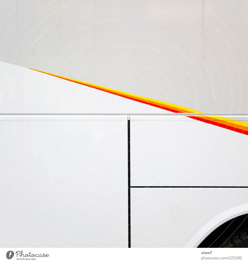 spitze. weiß rot gelb Farbe Linie Metall orange dreckig elegant Ordnung Design Beginn frisch ästhetisch modern Streifen