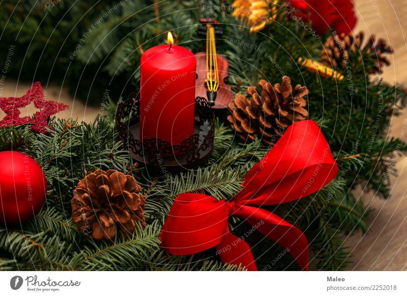 Advent Weihnachten & Advent Weihnachtsmarkt Adventskranz Dekoration & Verzierung Dezember Feste & Feiern festlich Flamme Fröhlichkeit Glück grün Hintergrundbild