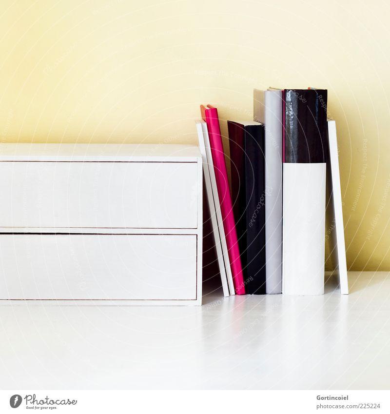 Lektüre Buch Schreibtisch Kasten Wissen Arbeitsplatz klug Medien Heft Mappe Lesestoff Schublade Tisch