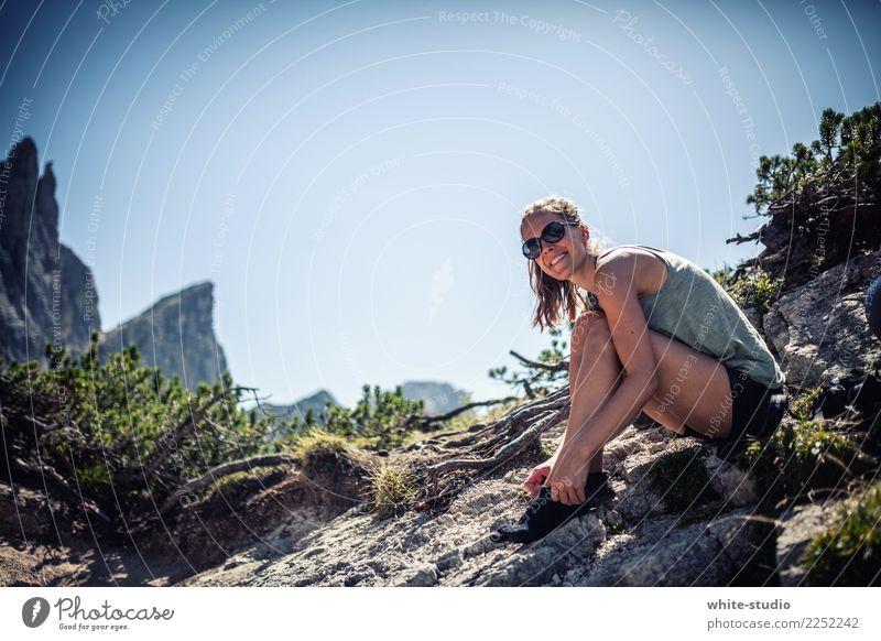 Wanderslust Ferien & Urlaub & Reisen Sommer Sonne Erholung Freude Ferne Berge u. Gebirge Leben Glück Tourismus Freiheit Felsen Freizeit & Hobby Zufriedenheit