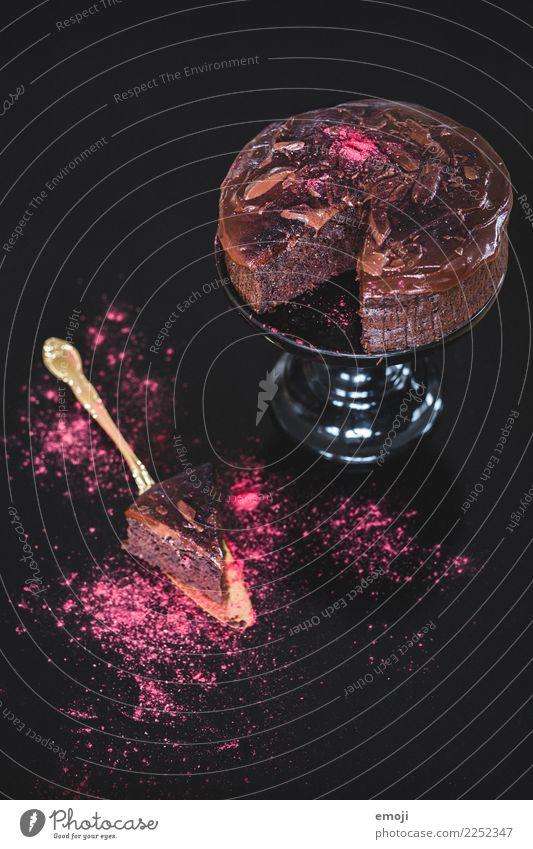 Rote-Beete-Schokokuchen dunkel rosa Ernährung süß lecker Süßwaren Kuchen Dessert Schokolade Slowfood Schokoladenkuchen