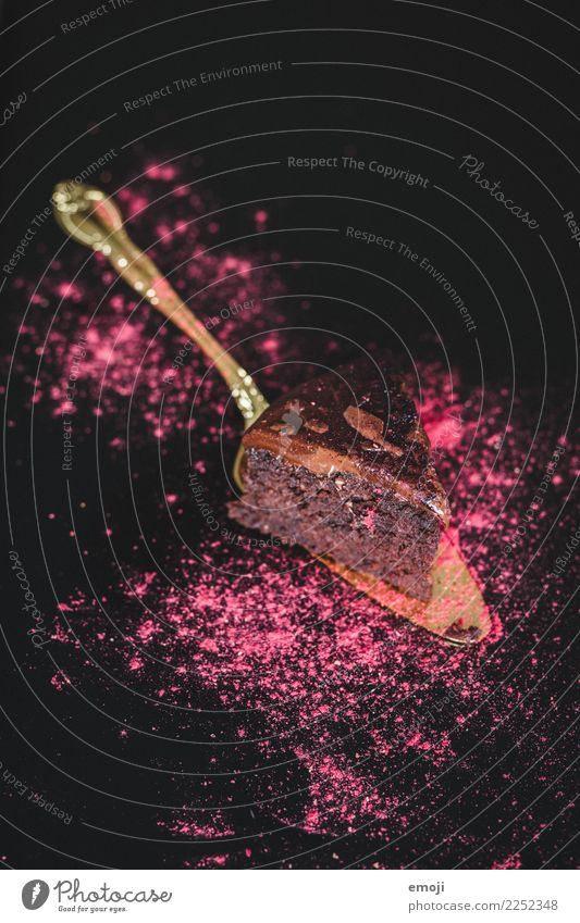 Rote-Beete-Schokokuchen Kuchen Dessert Süßwaren Schokolade Ernährung Slowfood dunkel lecker süß rosa Schokoladenkuchen Farbfoto Innenaufnahme Studioaufnahme