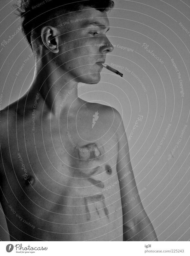 Abschied pt2 Mensch Jugendliche Gesicht Erwachsene Leben Gefühle Körper maskulin Lifestyle 18-30 Jahre Rauchen Junger Mann Wohlgefühl Rauschmittel Willensstärke Abschied