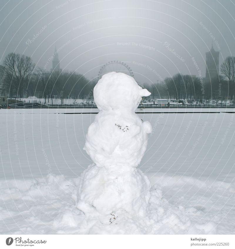 frau holle weiß Winter Schnee Berlin Nebel Klima Brust Seite Sehenswürdigkeit Riesenrad Rathaus Schneemann Rotes Rathaus Schneedecke