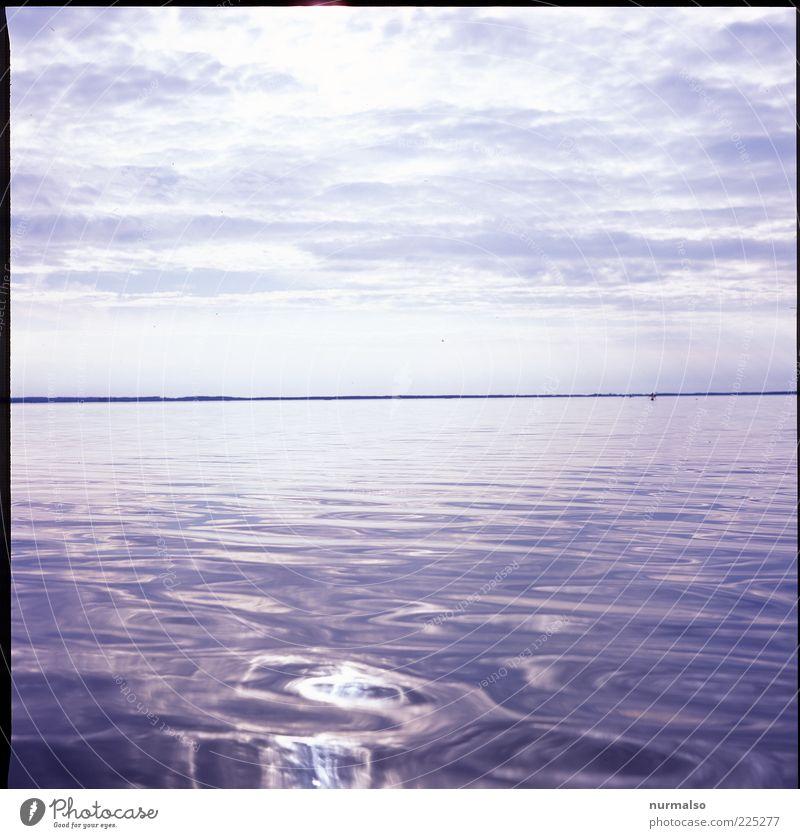 bleiern wasser Ferne Sommer Sommerurlaub Meer Wellen Umwelt Natur Landschaft Wasser Küste glänzend Unendlichkeit nachhaltig natürlich Stimmung Horizont seicht