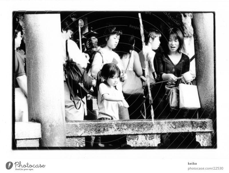keiko Japan Kyoto Menschengruppe Mutter und Tochter