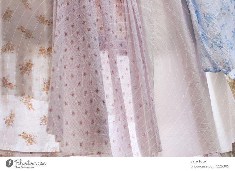 Wäsche in Lissabon weiß blau Sommer ruhig Luft Zufriedenheit rosa frisch Stoff Dekoration & Verzierung Sauberkeit leuchten Reinigen trocken Falte Duft