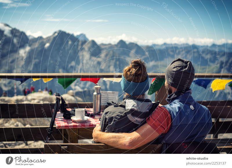 Friends Alpen Berge u. Gebirge Gipfel Schneebedeckte Gipfel Freude Glück Zufriedenheit Lebensfreude Liebespaar Freundschaft Paar Zusammensein Himalaya