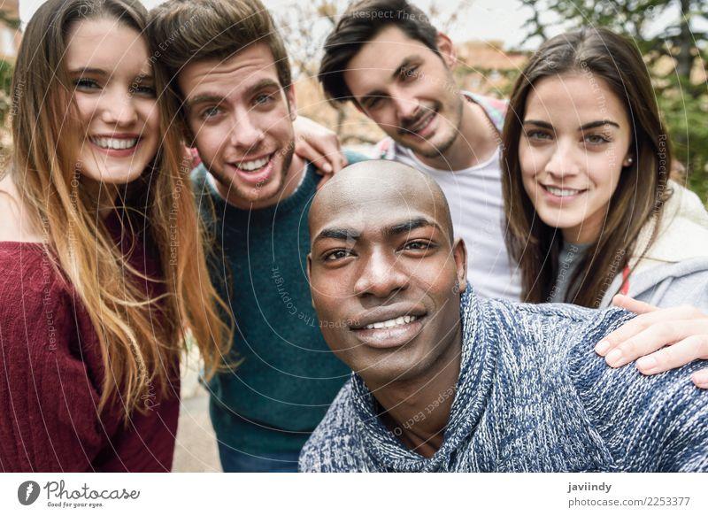 Frau Mensch Ferien & Urlaub & Reisen Jugendliche Mann Junge Frau schön Junger Mann Freude Straße Erwachsene Lifestyle lachen Glück Menschengruppe Freundschaft