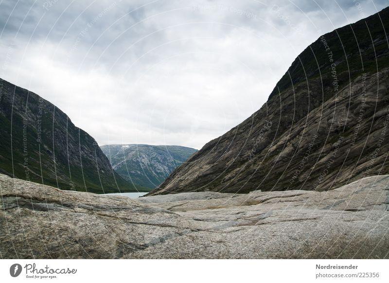 Vom Eis gezeichnet Natur Einsamkeit Ferne Freiheit Berge u. Gebirge Landschaft Stein träumen Stimmung Erde Horizont Felsen Klima bedrohlich Urelemente
