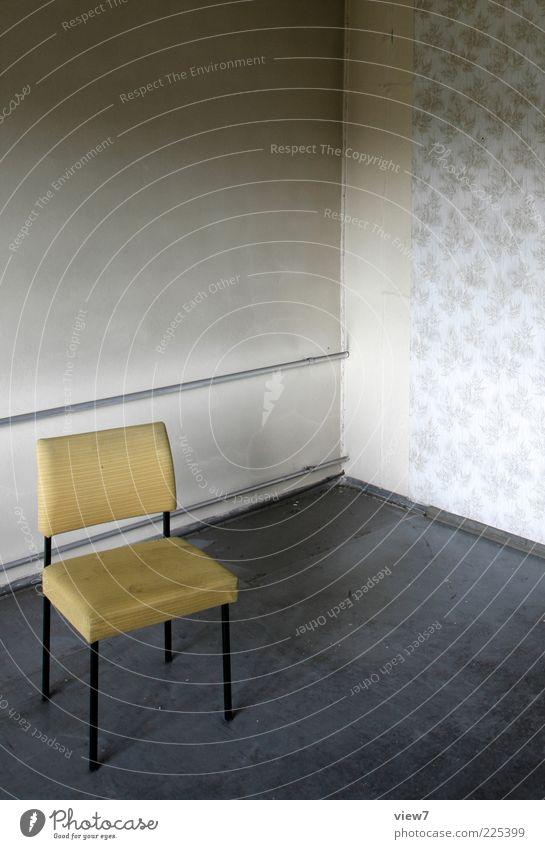 """<Stuhl Fill=""""#FFFF00""""/> Renovieren Umzug (Wohnungswechsel) einrichten Möbel alt einfach frisch gelb ästhetisch Design Ordnung Perspektive Vergangenheit"""