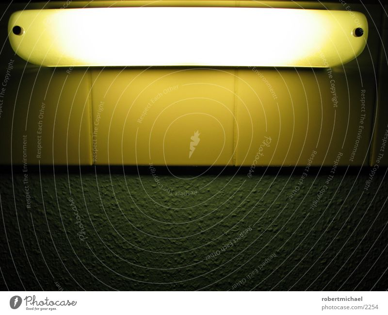 ikea lampe grün gelb Lampe dunkel Mauer hell Wohnung Schilder & Markierungen Bad Dekoration & Verzierung Häusliches Leben Fliesen u. Kacheln Neonlicht Fuge