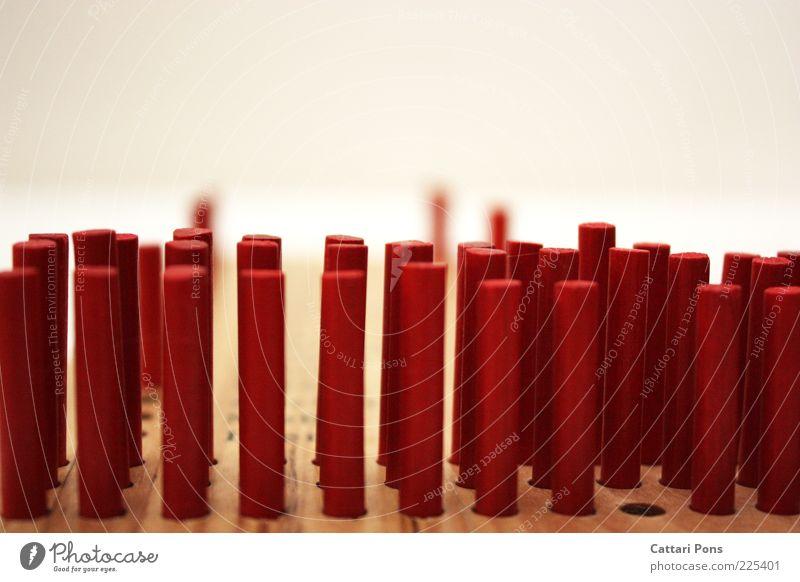 außenseiter rot Holz klein Spielzeug viele Sammlung Holzbrett vertikal innovativ stagnierend Holzplatte Brettspiel Holzstab