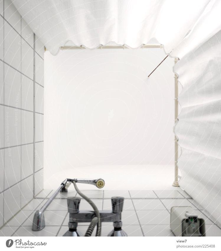 dusch das: Bad Kunststoff Linie Streifen alt hoch neu Sauberkeit weiß Beginn einzigartig Perspektive rein Dusche (Installation) Duschkopf Duschvorhang