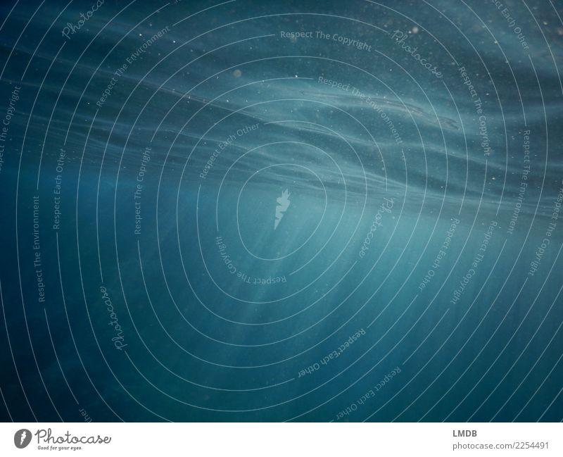 Himmlischer Schein Unterwasser III Wasser Meer Religion & Glaube Wellen Kraft Neigung Urelemente himmlisch diagonal Wasseroberfläche Optimismus trüb Lichteffekt