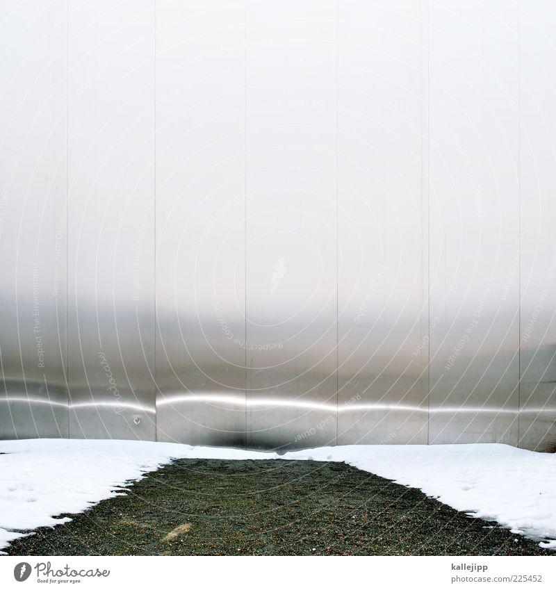 hinter dem horizont Winter grau Linie Ende Denkmal Stahl Grenze Fußweg Verkehrswege Vorhang Wahrzeichen silber Barriere Kies Sehenswürdigkeit hart
