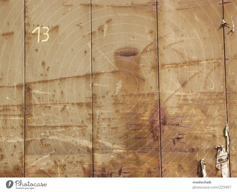 Urbanism Stil Design Mauer Wand Container Metall Stahl Rost Zeichen Ziffern & Zahlen ästhetisch bizarr Idee Identität Inspiration Kultur Rätsel Linie