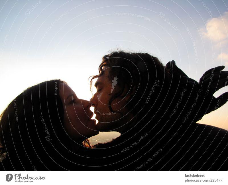 l'amour Frau Mensch Mann schön Liebe feminin Gefühle Glück Erwachsene Paar Zusammensein Tierpaar maskulin Küssen Leidenschaft Lust
