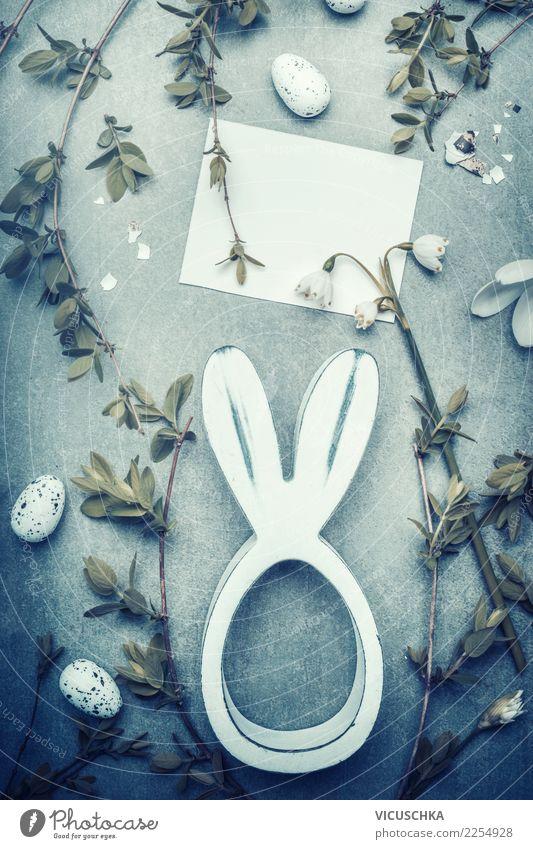 Osterkarte mock up Stil Design Feste & Feiern Ostern Frühling Blume Dekoration & Verzierung Blumenstrauß Zeichen einfach Tradition Entwurf Symbole & Metaphern