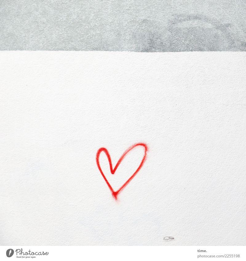 reminder Mauer Wand Dekoration & Verzierung Farbe Stein Beton Zeichen Graffiti Herz Linie einfach Glück Stadt Willensstärke Leidenschaft Vertrauen Geborgenheit