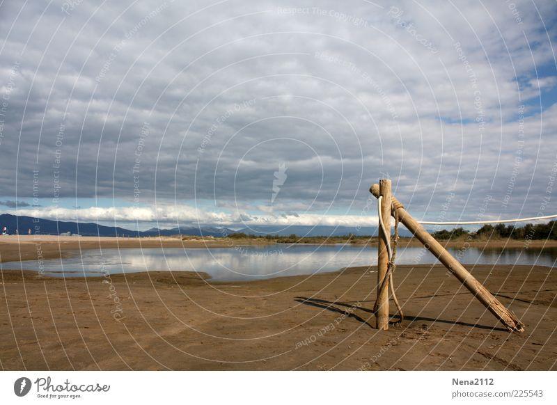 Urlaubsreif... Freiheit Strand Meer Umwelt Natur Landschaft Sand Wasser Himmel Wolken Gewitterwolken Horizont Sommer Herbst Klima Wetter Schönes Wetter blau