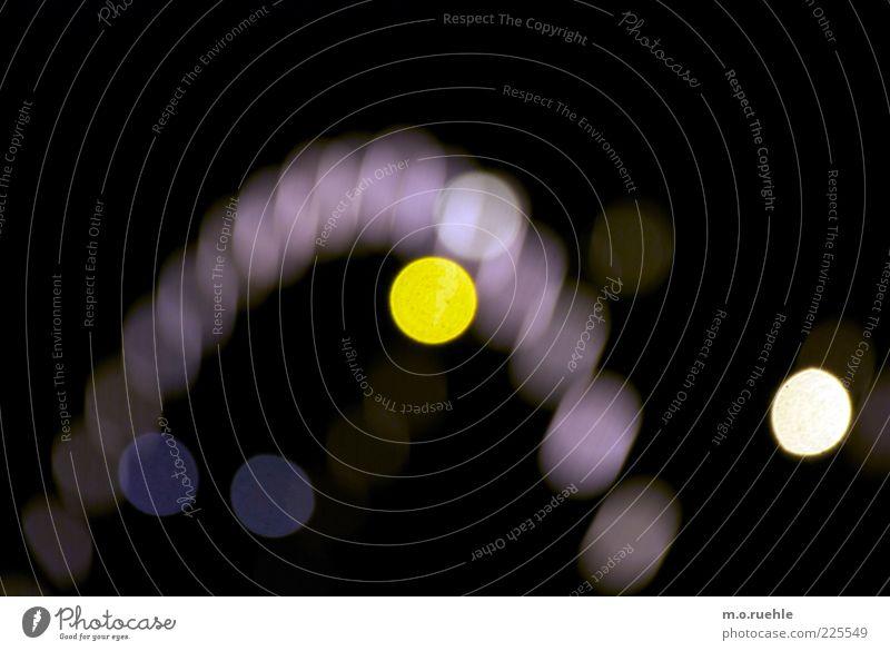 GELB weiß schwarz gelb leuchten Punkt Jahrmarkt Lichtspiel Riesenrad Nachtleben Lichtpunkt Nachtaufnahme Lampenlicht