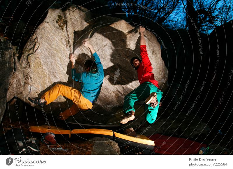 Boulder Cresciano II Mensch Natur Ferien & Urlaub & Reisen Sport Freizeit & Hobby Abenteuer Felsen Klettern Schönes Wetter Bergsteigen Funsport Schatten