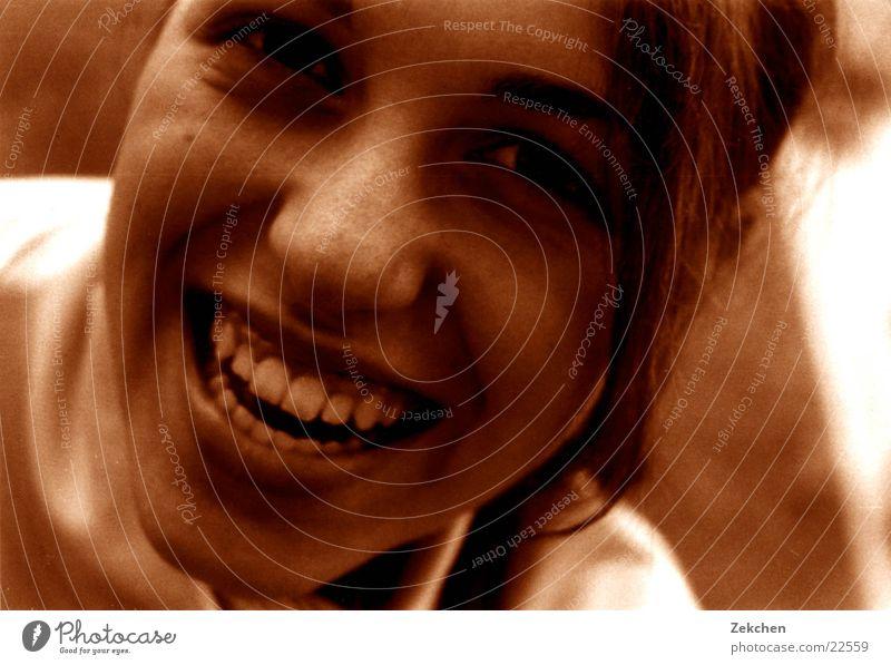 Romy Frau Gesicht Auge Mund Zähne
