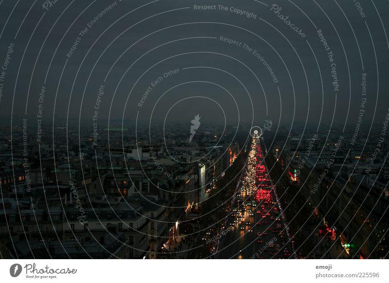 NIGHT IN PARIS II Stadt Hauptstadt Stadtzentrum Fußgängerzone Haus Dach Sehenswürdigkeit außergewöhnlich dunkel Riesenrad Champs-Elysées Arc de Triomphe Straße