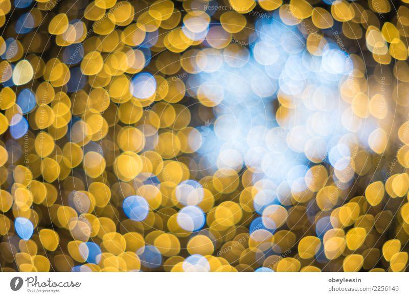 glitzernde Sterne auf Bokeh Weihnachten & Advent blau Farbe weiß rot dunkel schwarz gelb Feste & Feiern Design hell Dekoration & Verzierung glänzend neu