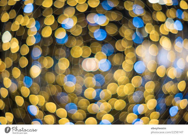 glitzernde Sterne auf Bokeh Reichtum Design Dekoration & Verzierung Feste & Feiern Weihnachten & Advent glänzend dunkel hell neu blau gelb rot schwarz weiß