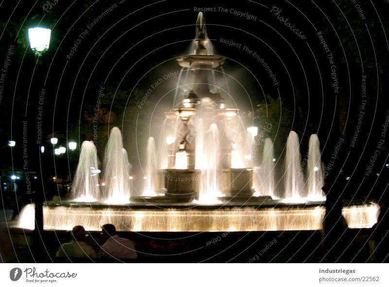 granada Brunnen Nacht Spanien Europa